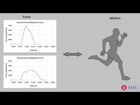Linking running motion to ground force: the concise physics of running