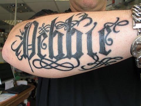 Tatuajes Con Letras Goticas Ideas Para Tu Tatuaje Youtube