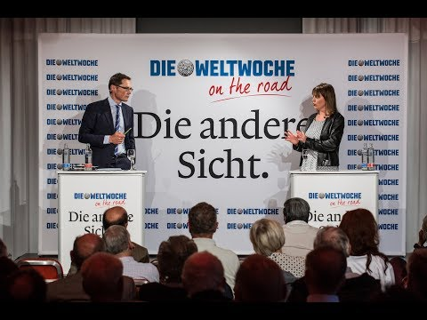 Weltwoche on the Road: Chantal Galladé & Roger Köppel