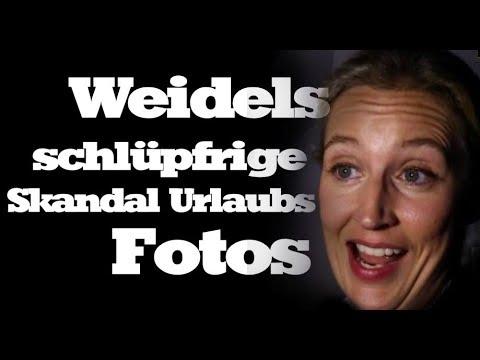 SKANDAL : Alice Weidels peinliche Urlaubsfotos enthüllt - AFD Alice Weidel