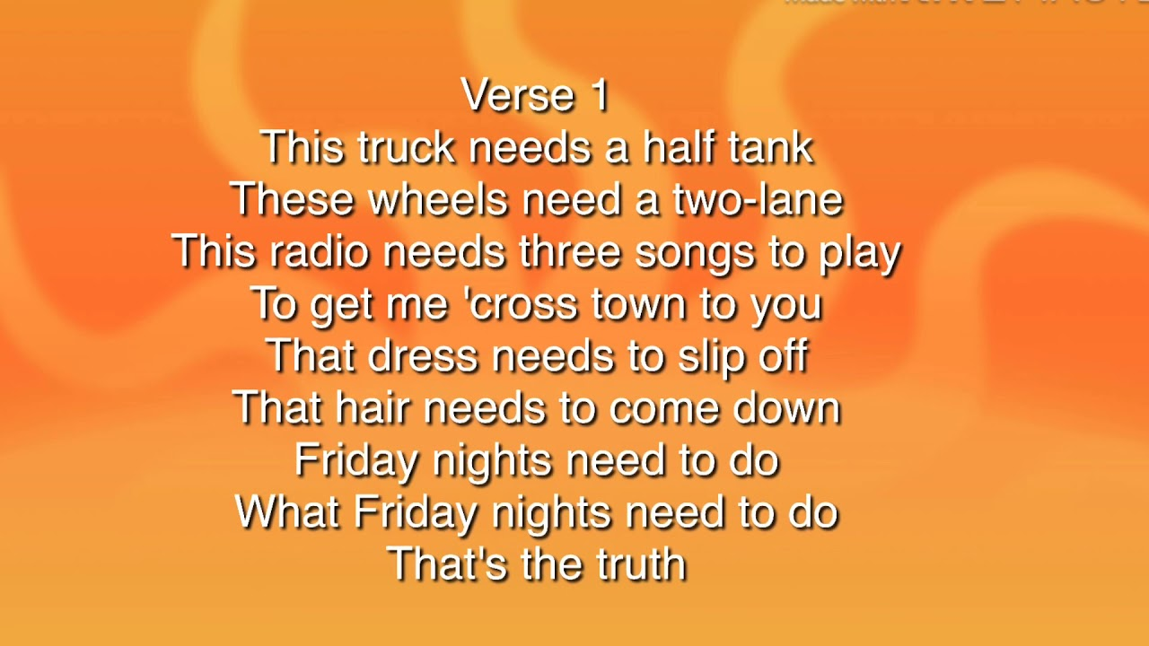 Luke Bryan \u2014knockin boots lyrics
