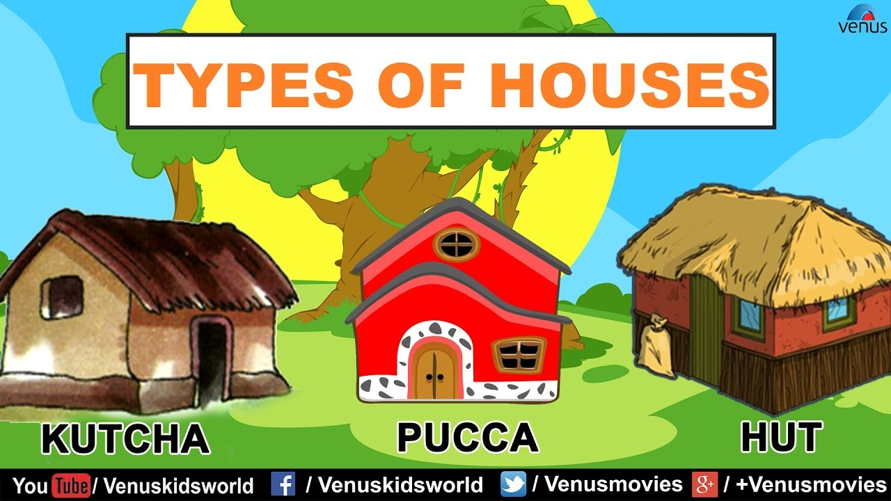 Types of houses youtube for Names of different style homes