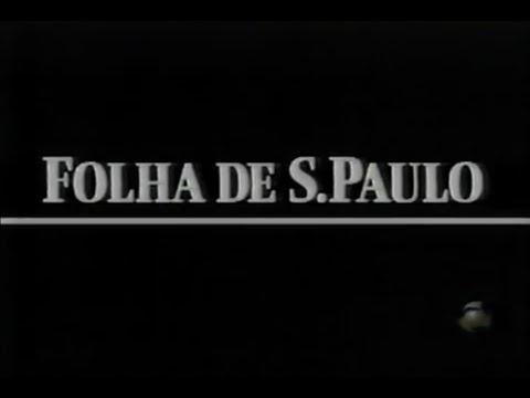 Comercial antigo 75 anos da Folha de S.Paulo - 1997