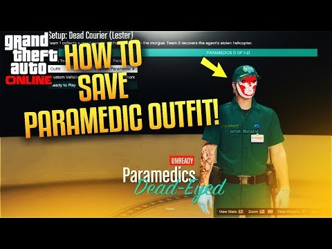 GTA 5 ONLINE - HOW TO SAVE PARAMEDIC OUTFIT! (PS4 GAMEPLAY)
