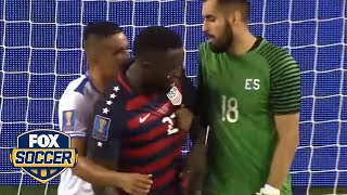 Jozy Altidore bit then had nipple twisted against El Salvador | 2017 CONCACAF Gold Cup