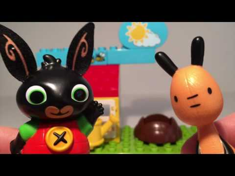 Bing Bunny & Flop Teach Children about Growing Plants Lego Duplo Garden Sunflowers cbeebies