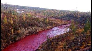 O Rio que ficou vermelho da noite para dia, e que intrigou as pessoas na Rússia