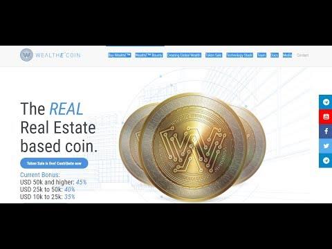 wealthe coin - криптовалюта недвижимости исо со 21 мая