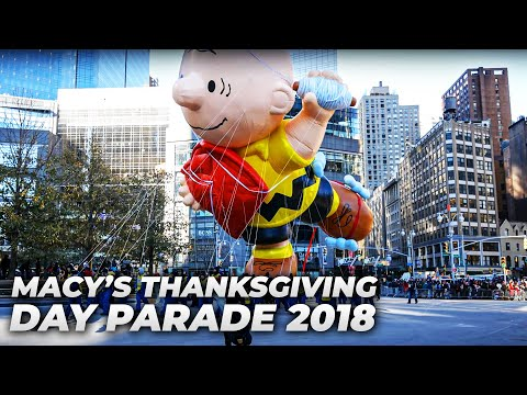 ⁴ᴷ Full Macy's Thanksgiving Parade 2018 from Columbus Circle