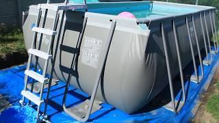 Каркасный бассейн Интекс.Обзор и об установке
