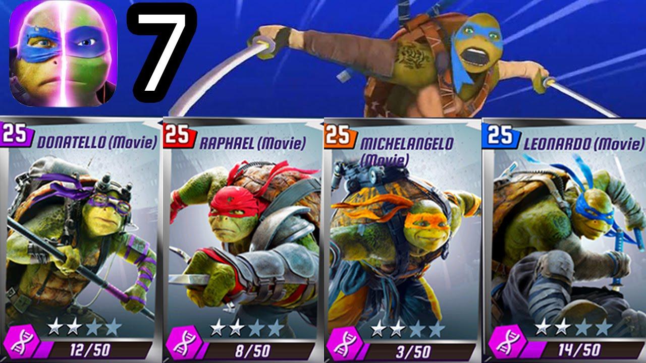 Tmnt Legends Rocksteady Michelangelo Raphael Leonardo Donatello The Movie Ios Gameplay Part 7 Youtube