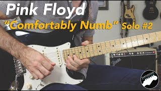 """Pink Floyd """"Comfortably Numb"""" 2nd Solo Guitar Lesson   Part 1"""