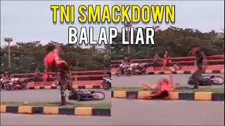 Anggota TNI 'Smack Down', Diduga Ditabrak Motor Balap Liar