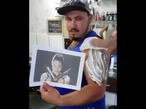 Tomb Raider Lara Croft Angelina Jolie Tattoo Reveal Youtube