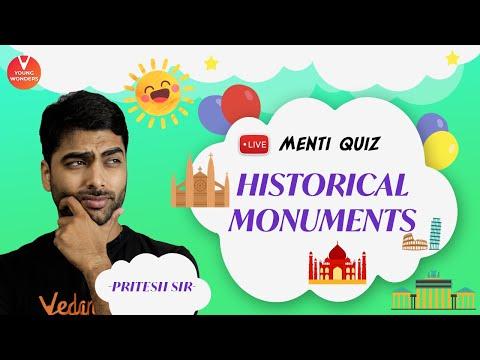 historical-monuments-of-india-|-indian-monuments-live-menti-quiz-|-vedantu-class-6---8-|-pritesh-sir