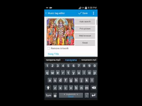 Android app to embed lyrics and add album art to m