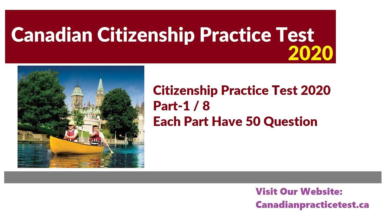 Canadian Citizenship Practice Test 2020 Part 1 (Question 1 ...