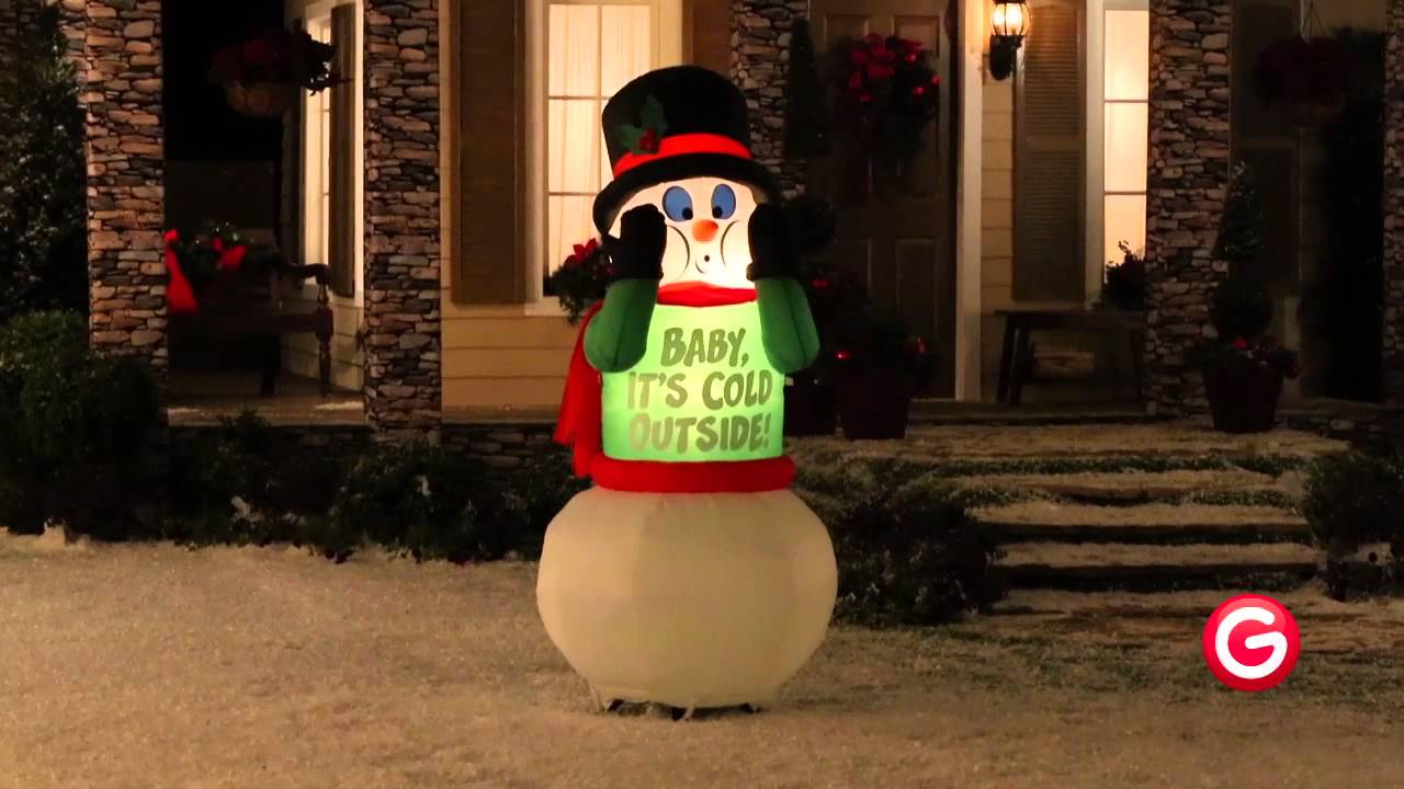 Airblown Inflatables Shivering Snowman By Gemmy Youtube