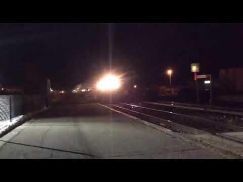 Amtrak's Empire Builder pulls into Detroit Lakes, Minnesota