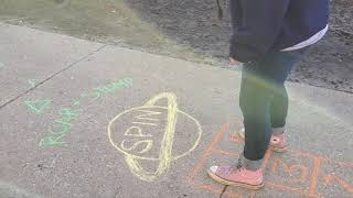 Try Drawing A Sidewalk Chalk Obstacle Course! Here's How
