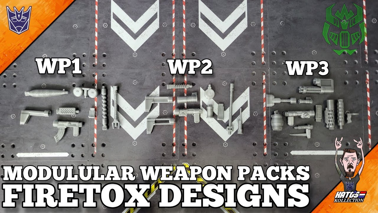 Firetox Designs Modular Weapons System Pack Review by Kato's Kollection