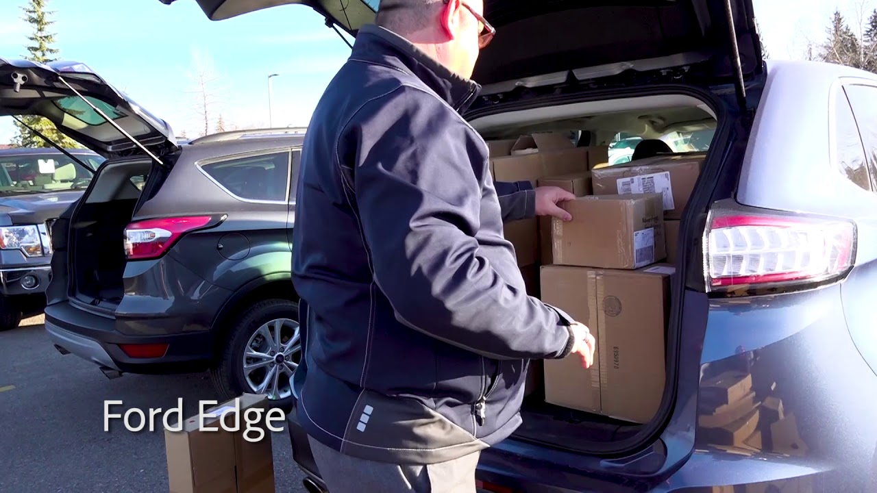 Trunk Capacity Ford Edge Versus Ford Escape Youtube