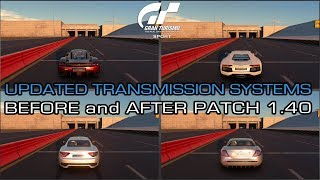 Gran Turismo Sport - Updated Transmission Systems (Before and After Patch 1.40)