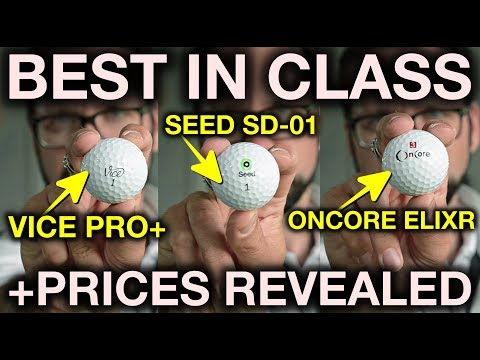 Best Guerrilla Golf Ball + Value For Money! Seed SD-01 vs Vice Pro+ vs OnCore Elixr vs ProV1