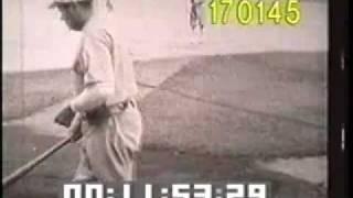 Babe Ruth - Baseball Legend - Hall of Famer - Archival Baseball - Best Shot Footage - Stock Footage