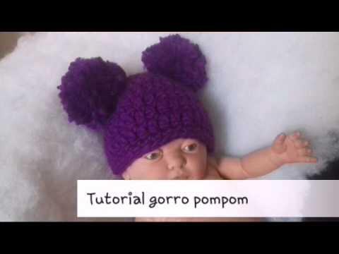 089dbc6c1 Gorro pompones a crochet - YouTube