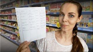 Экономная ЗАКУПКА ПРОДУКТОВ на неделю по составленному МЕНЮ | Рациональное питание