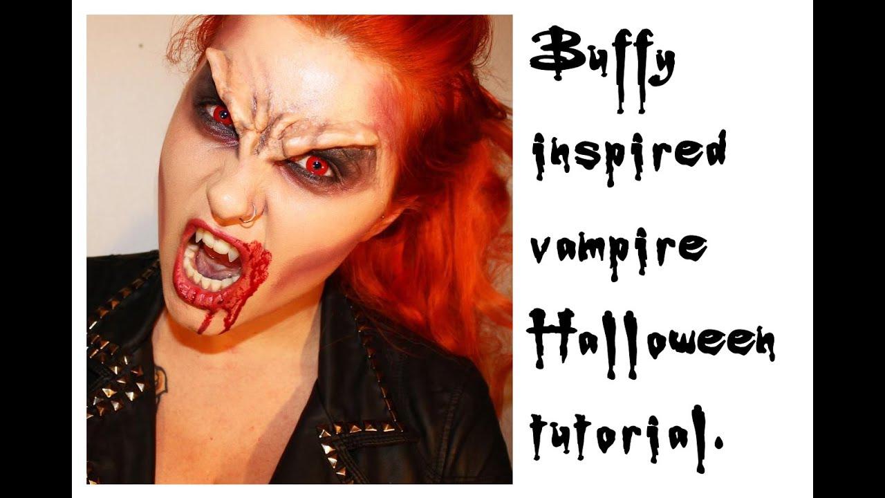 buffy the vampire slayer inspired vampire makeup for halloween