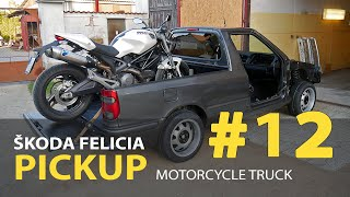 #12 Škoda Felicia Pickup 1.9D Rebuilding A Wrecked - Alloy wheel repair and the windshield mounting