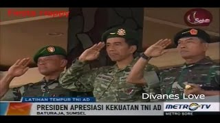 Presiden Jokowi Saksikan Latihan Tempur TNI AD di Baturaja