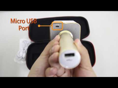 LHR - Q7 Wireless Microphone & HIFI Speaker (Unboxing and Bluetooth pairing tutorial)