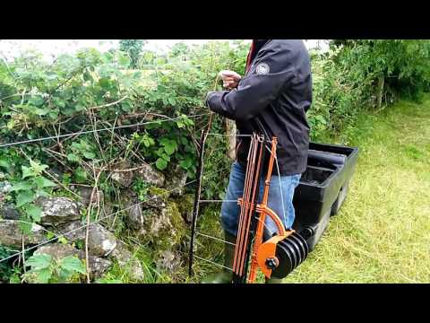 Fencing for sheep rotational grazing - YouTube