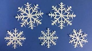 How to Make Snowflake with Paper | Making Paper Snowflakes Step by Step | DIY-Paper Crafts thumbnail