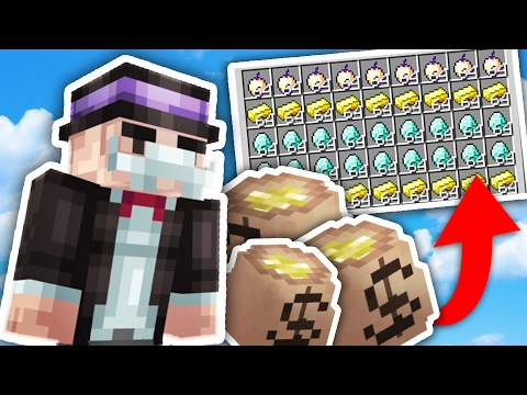 HOW TO BE A RICH BANKER IN MINECRAFT (Skybounds Minecraft)