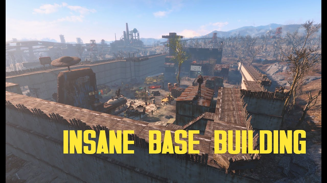 21 9 Fallout 4: Insane Base Building! Starlight Drive-In