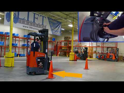 LIFT -  Reach Truck Training -  4K Forklift Training (with bloopers at the end!)