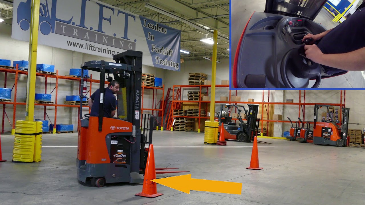 Lift Reach Truck Training 4k Forklift Training With Bloopers At