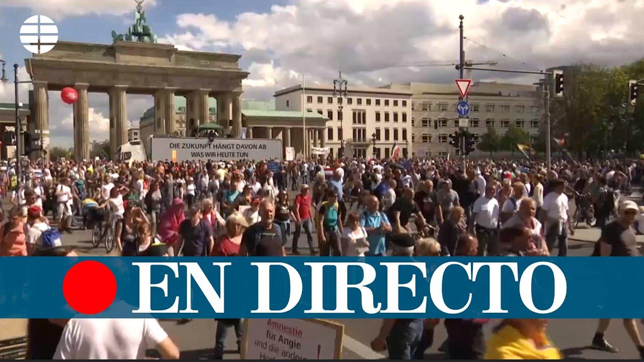 DIRECTO| manifestacin Alemania  por el coronavirus
