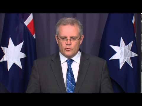 Scott Morrison Press Conference On Nauru Sexual Assault