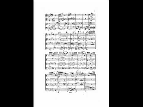 A. Dvorak: String Quartet No.9 in D-minor, op.34 (1/4 Allegro)