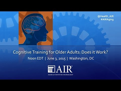 Cognitive Training for Older Adults: Does it Work?
