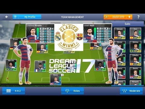 REAL MADRID + FC BARCELONA 2017-2018 - DREAM LEAGUE SOCCER 2017 Save Data With 100 Power