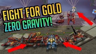 Tanki Online - EPIC Fight For GOLD! SPACE MODE (With Voices)