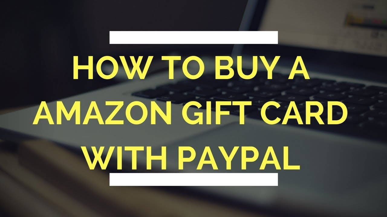 Can i buy amazon gift card with paypal