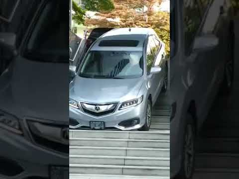 Big Mad Morning Show - Dummy drives new car down the stairs