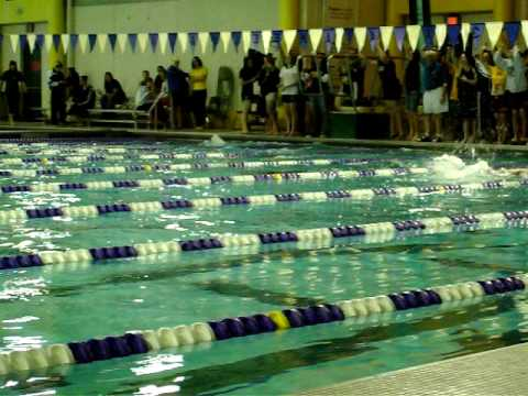 2009 Wyoming Swimming and Diving State - 4A 100 ba...